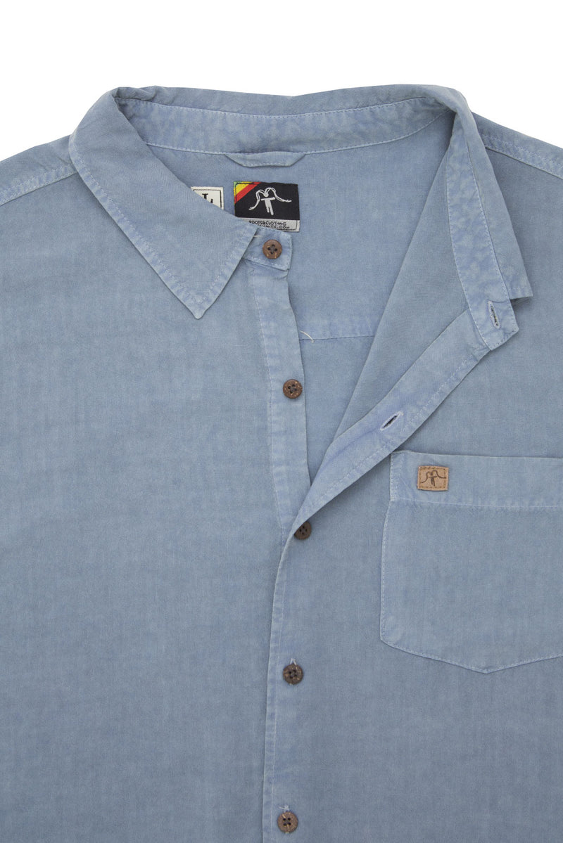 Shirt Viscose Solid Light Blue