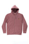 FULL ZIP SUEDE PLUM