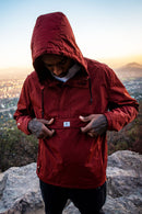 WINDBREAKER ANORAK BURGUNDY