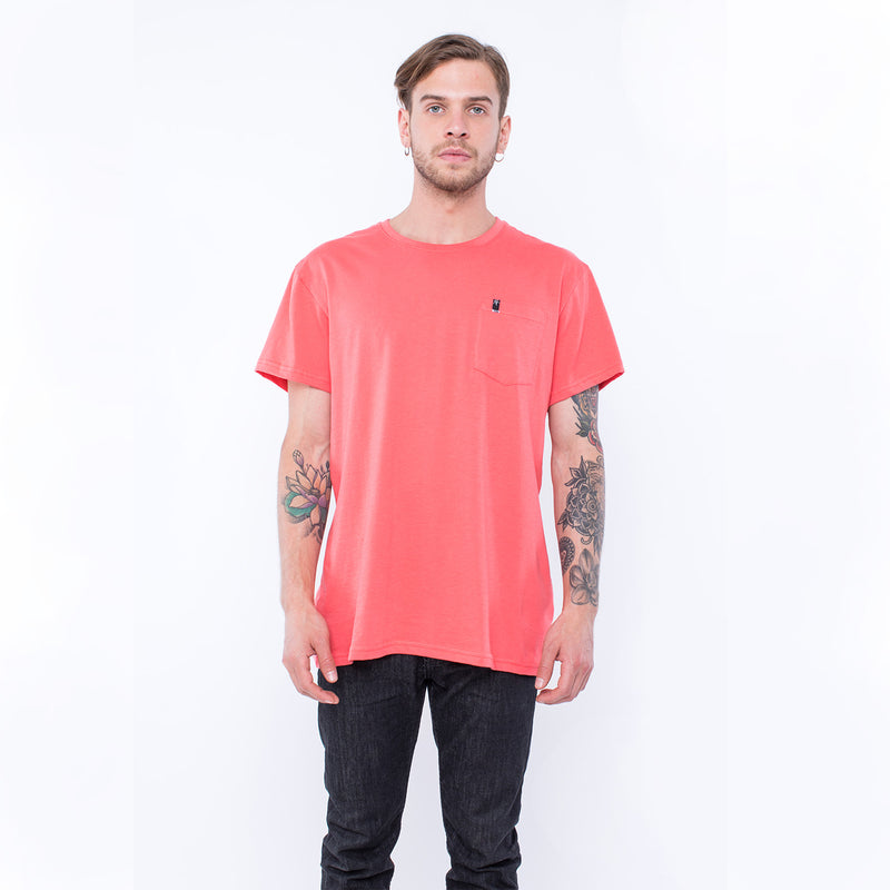 TSHIRT POCKET ROSADO