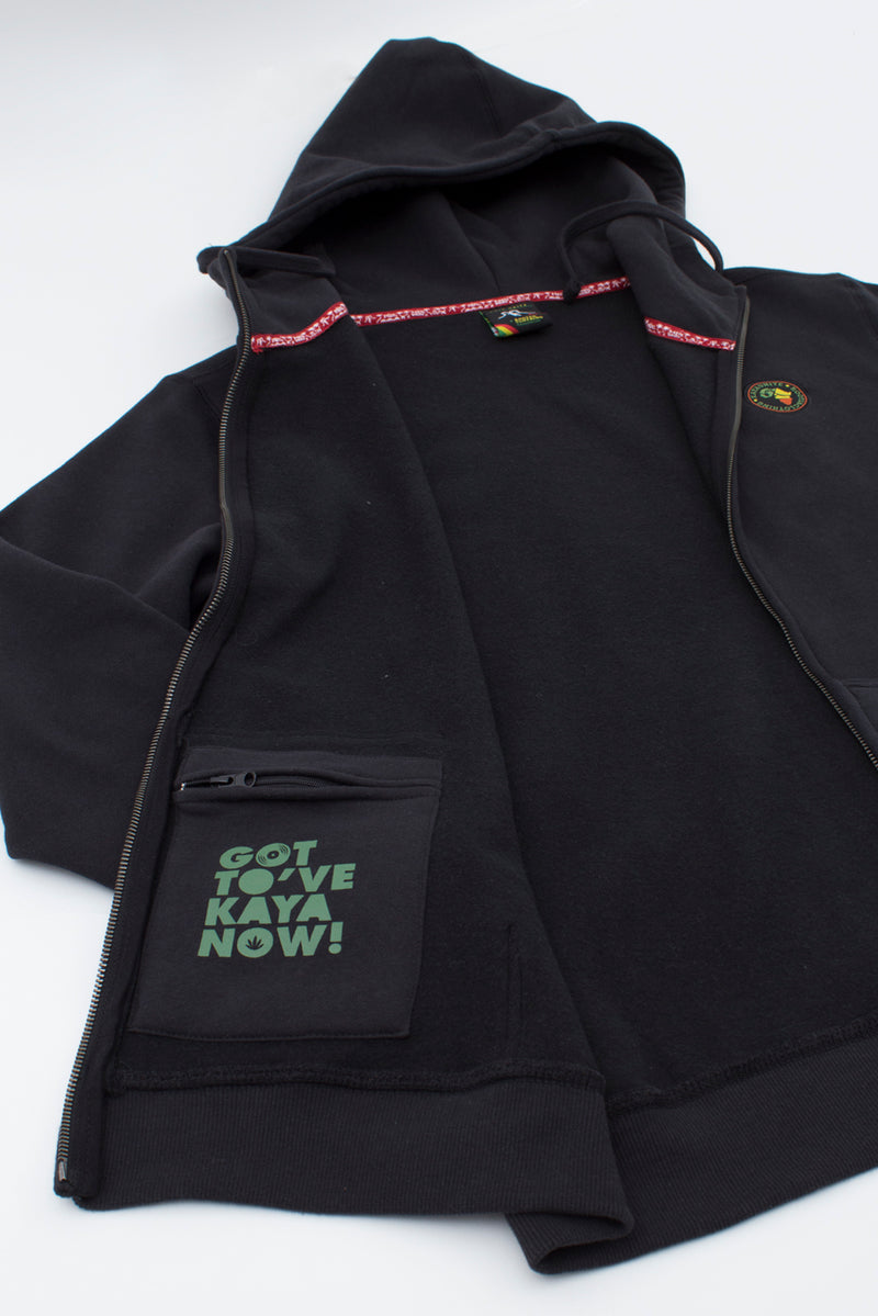 FULL ZIP AFRICA BLACK