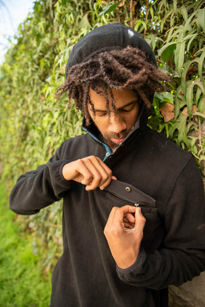 FLEECE VAGABOND FLEECE VAGABOND BLACK