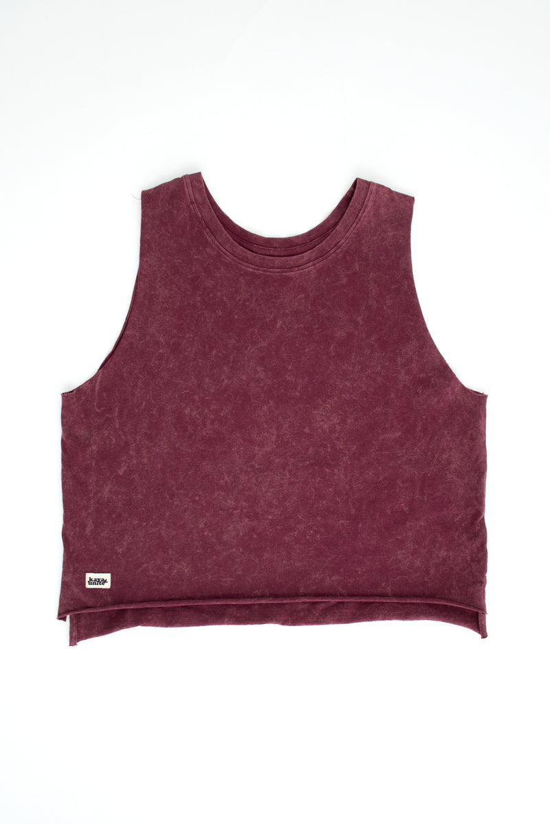 TSHIRT TANK DARK ROSE