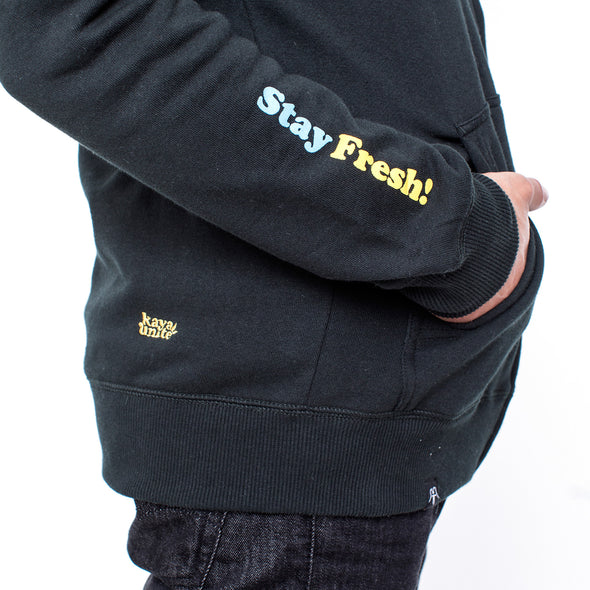 FULL ZIP FRESH BLACK