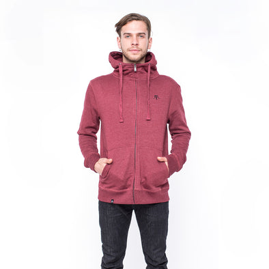 FULL ZIP SUEDE BORDO