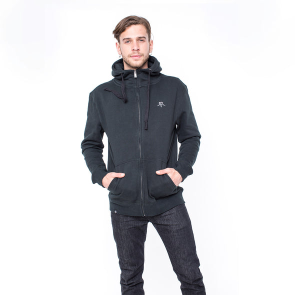 FULL ZIP SUEDE BLACK