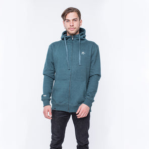 FULL ZIP SUEDE GREEN