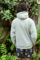 FULL ZIP SUEDE GREY MELANGE