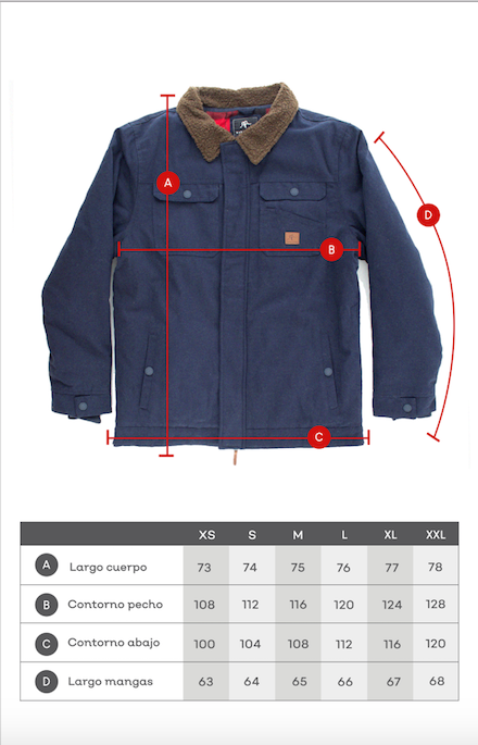 JACKET CHOPPER BLUE