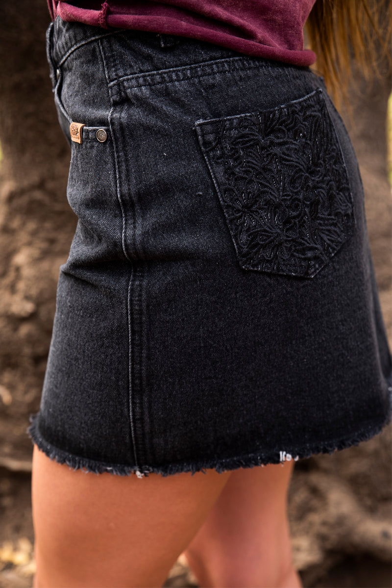 SKIRT DENIM BLACK