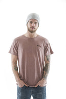TSHIRT LOGO POCKET ROSE