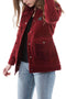 JACKET LONG GIRL TRUCKER BURGUNDY