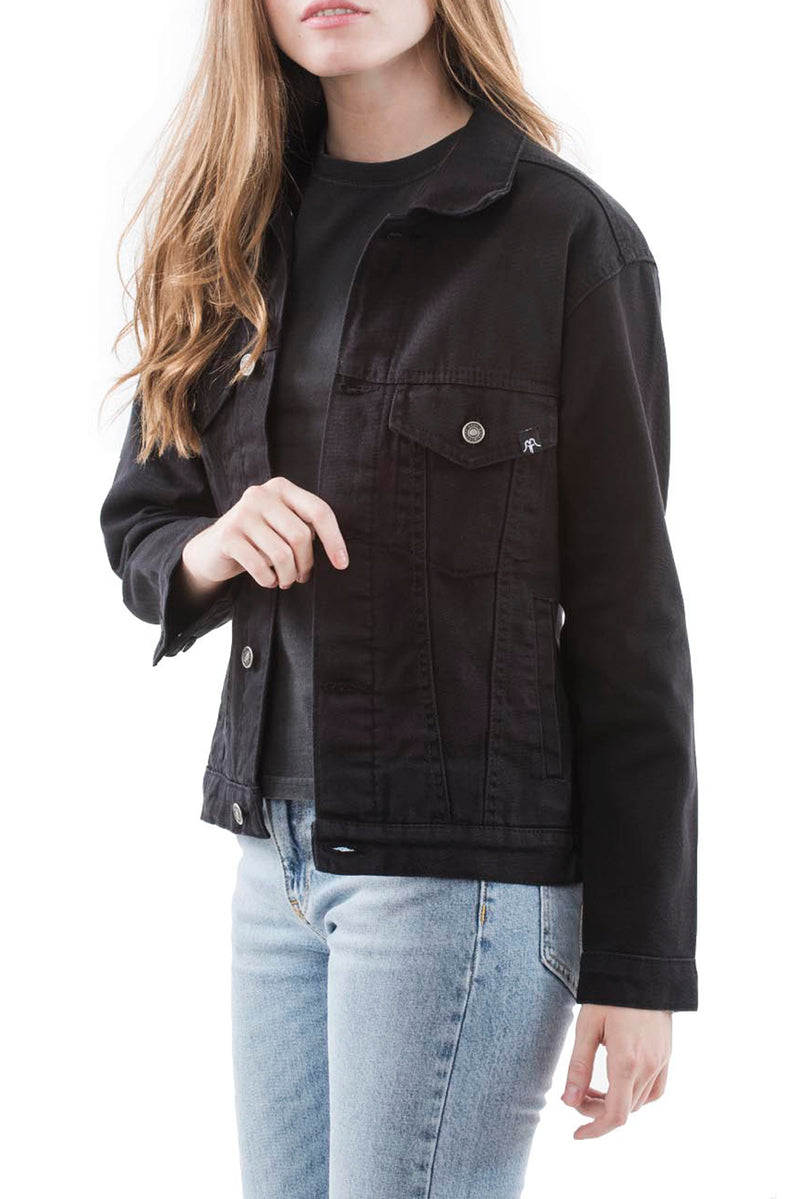 JACKET JEANS GIRL BLACK