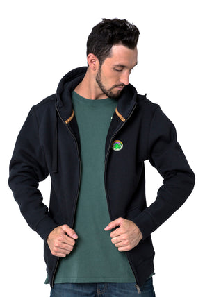 FULL ZIP CHILLIN BLACK