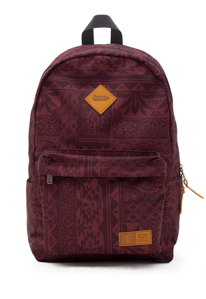 BACKPACK TRIBAL BURGUNDY