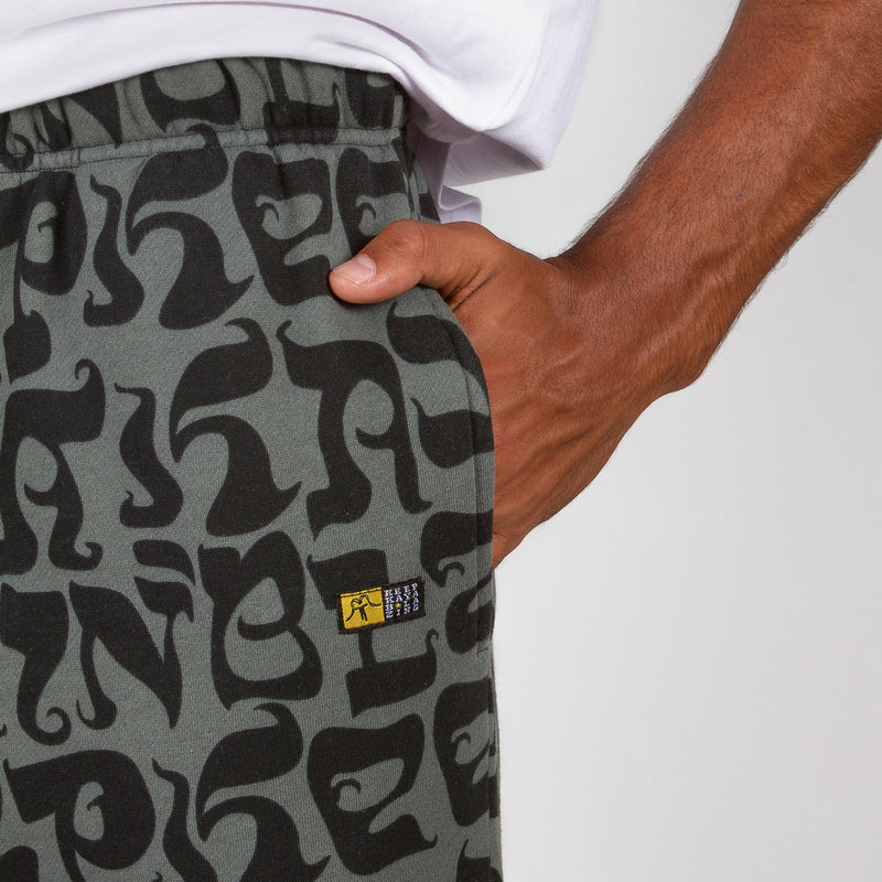 SWEATPANTS PATTERN NEGRO