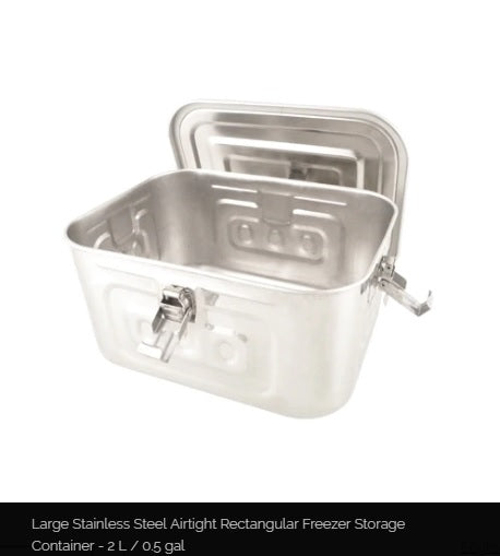 Stainless Steel Airtight Rectangular Freezer Storage Container