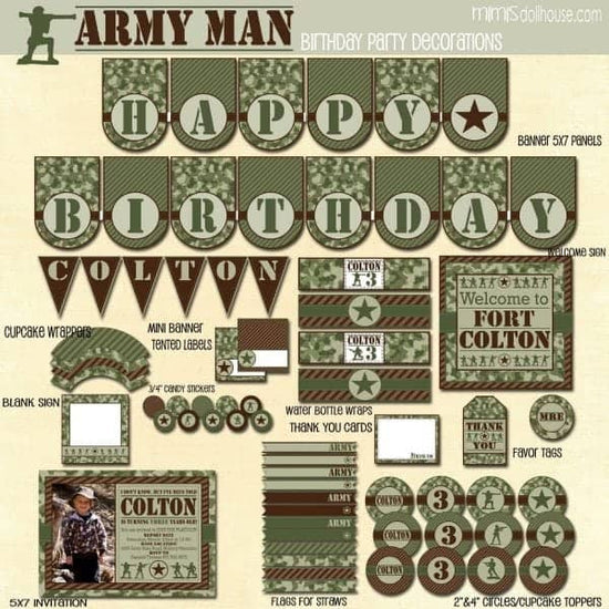 Army Party Printable Collection