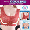 *Max Support Air Permeable Rose Floral Bra