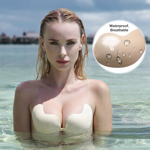 *2019 Mango Front Closure Adhesive Strapless Super Waterproof Push-Up Bra