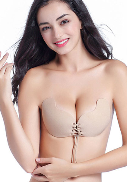*Mango Front Closure Push Up Adhesive Bra