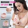 *Large Massage Front Zip Wire-Free Sleep Lace Bra