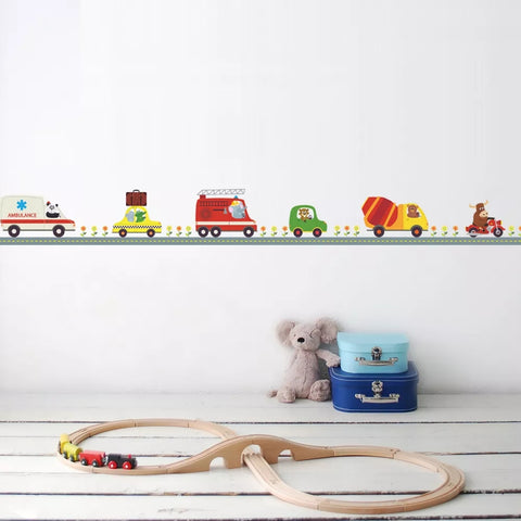 Image of Adorable Cartoon Cars Wall Decal