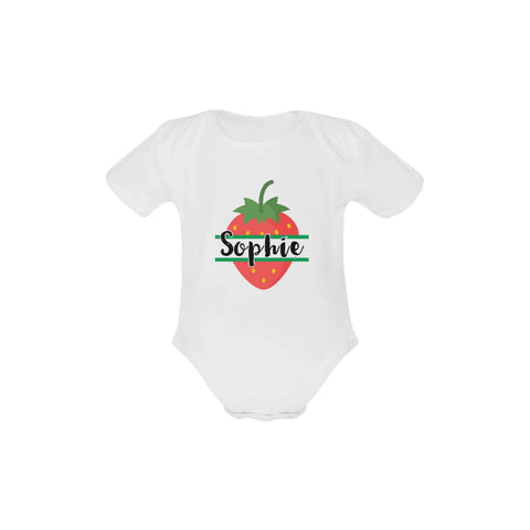 Image of Personalised Summer Fruits Short-Sleeved Onesie by Toddler Inc