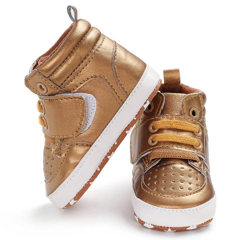 Image of Fashionable Leather Sneakers