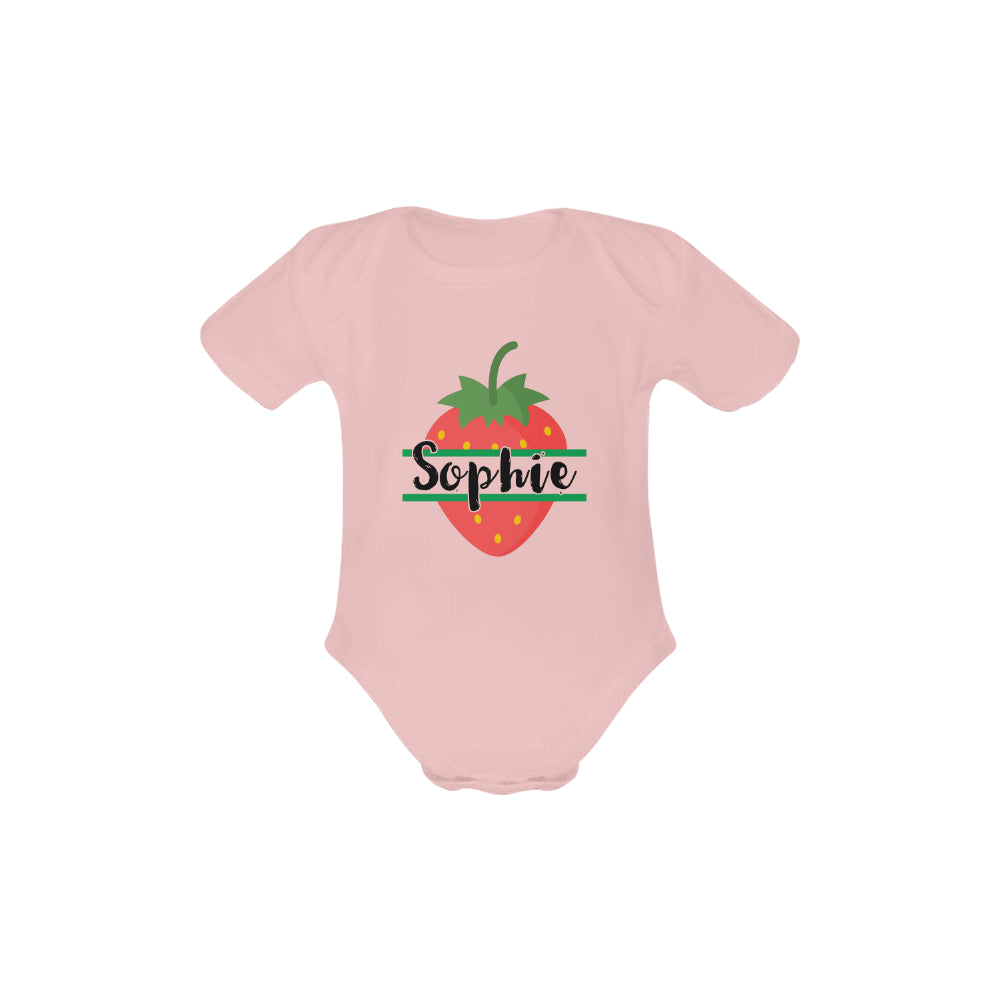 Personalised Summer Fruits Short-Sleeved Onesie by Toddler Inc