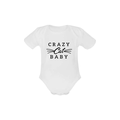 Crazy Cat Baby Organic Onesie by Toddler Inc