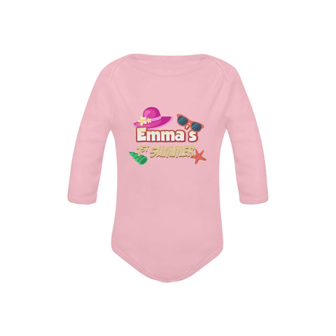 Personalized First Summer Organic Onesie by Toddler Inc