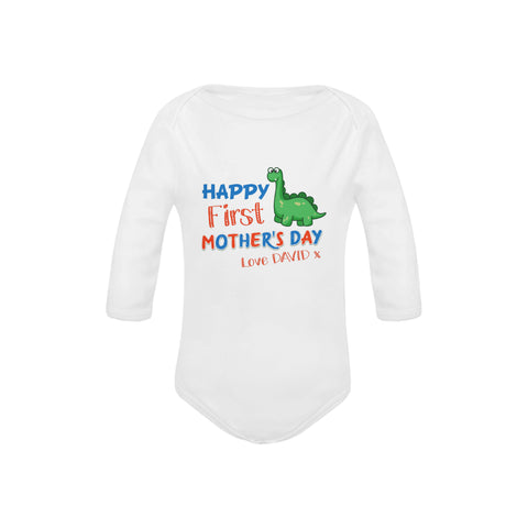 Personalized Dino Organic Onesie by Toddler Inc
