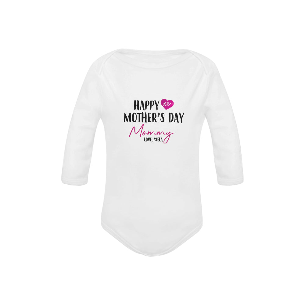Customized Mother's Day Organic Onesie by Toddler Inc