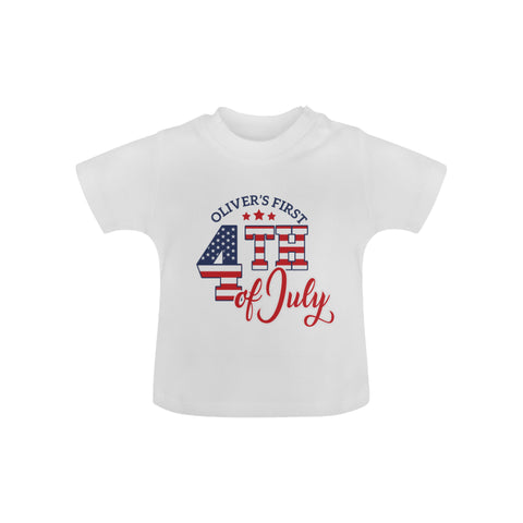 Personalized First 4th Of July Baby Tee by Toddler Inc