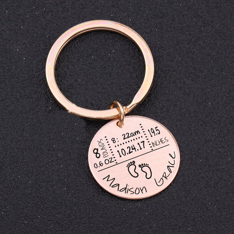 Image of Classic Personalized Newborn Keychain