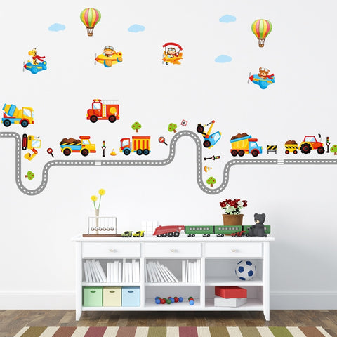 Adorable Construction Wall Decal