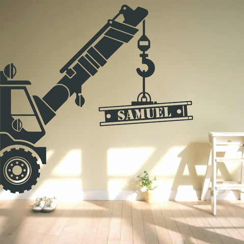 Personalized Crane Wall Decal