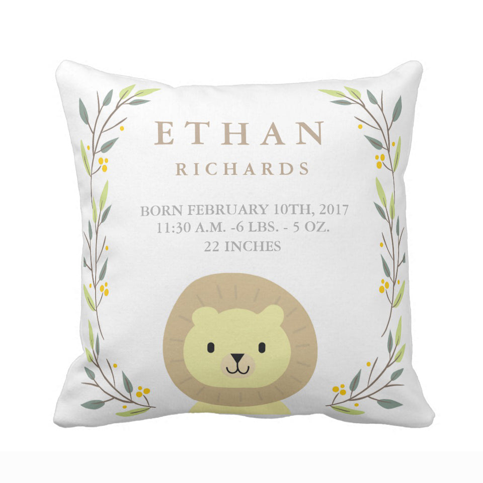 Adorable Flora Personalized Pillow Cover