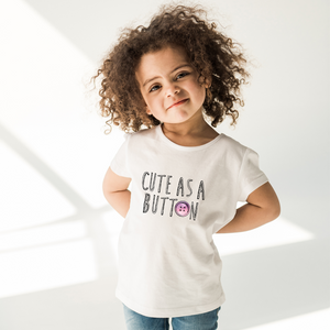 Cute As A Button Baby Tee by Toddler Inc