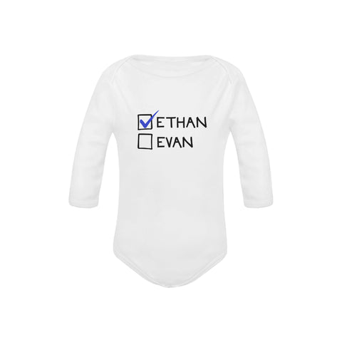 Customized Twin Organic Onesies by Toddler Inc