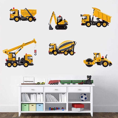 Construction Site Wall Decal