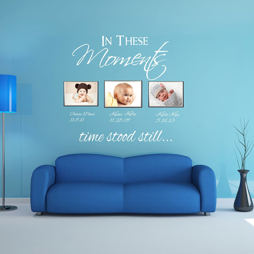 In These Moments Personalized Wall Decal