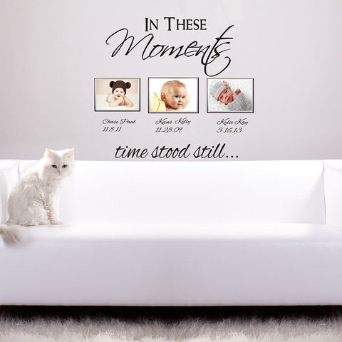 Image of In These Moments Personalized Wall Decal