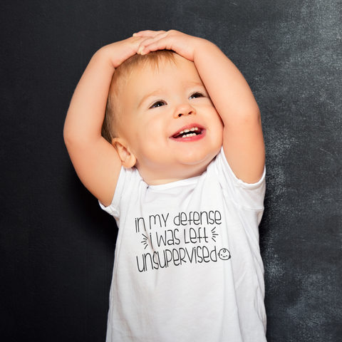 In My Defense Baby Tee by Toddler Inc