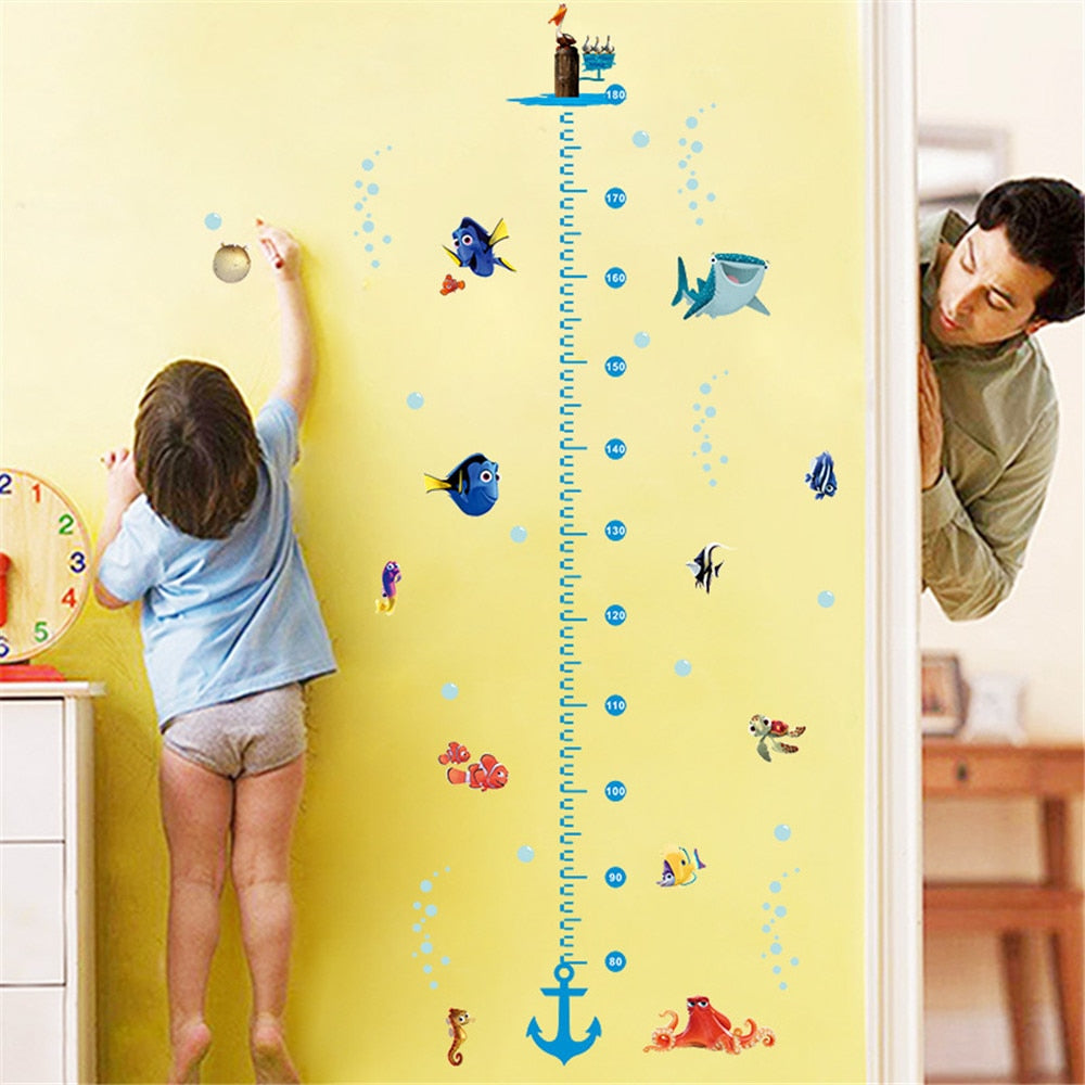 Underwater Growth Chart Wall Sticker