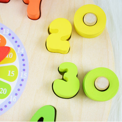 Image of Educational Wooden Toy Clock