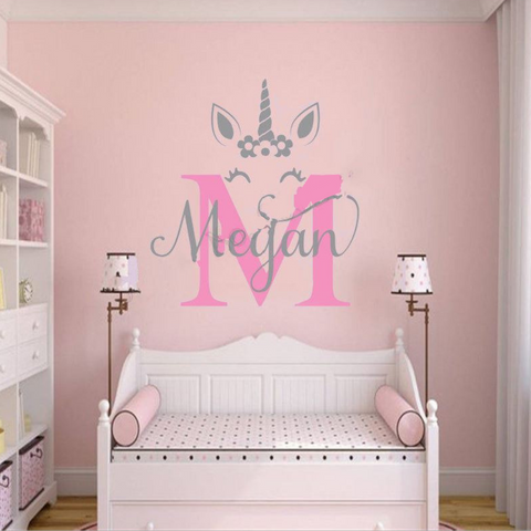 Image of Sweet Customized Unicorn Decal