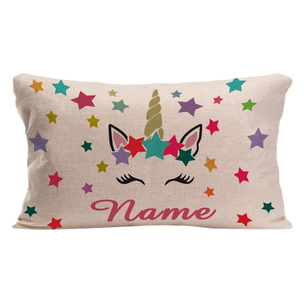 Sweet Personalized Unicorn Pillow Case