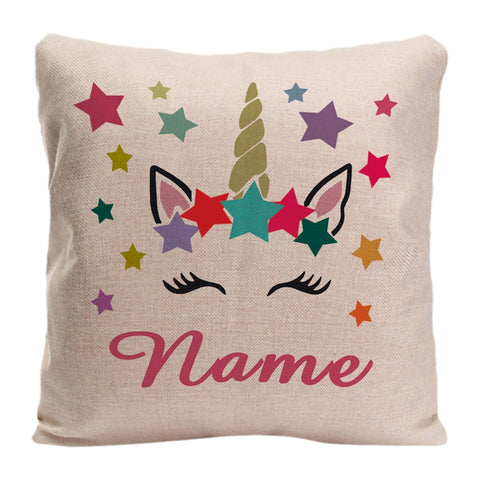 Image of Sweet Personalized Unicorn Pillow Case